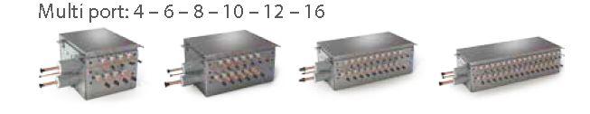 L'estrema flessibilità del sistema è garantita anche dall'adozione di nuovi distributori singoli e multi-attacco più leggeri e compatti.