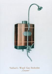 Primo Modello Scaldabagno Geyser a muro Vaillant, 1905.