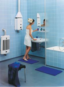 Soluzione Vaillant acqua calda sanitaria e riscaldamento, 1961.