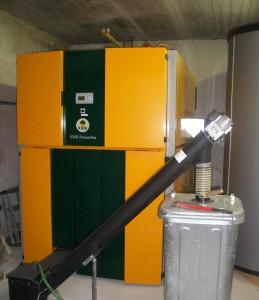 Installazione della caldaia a Pellet KWB Powerfire TDS 300 kW nel Duomo di Bolzano