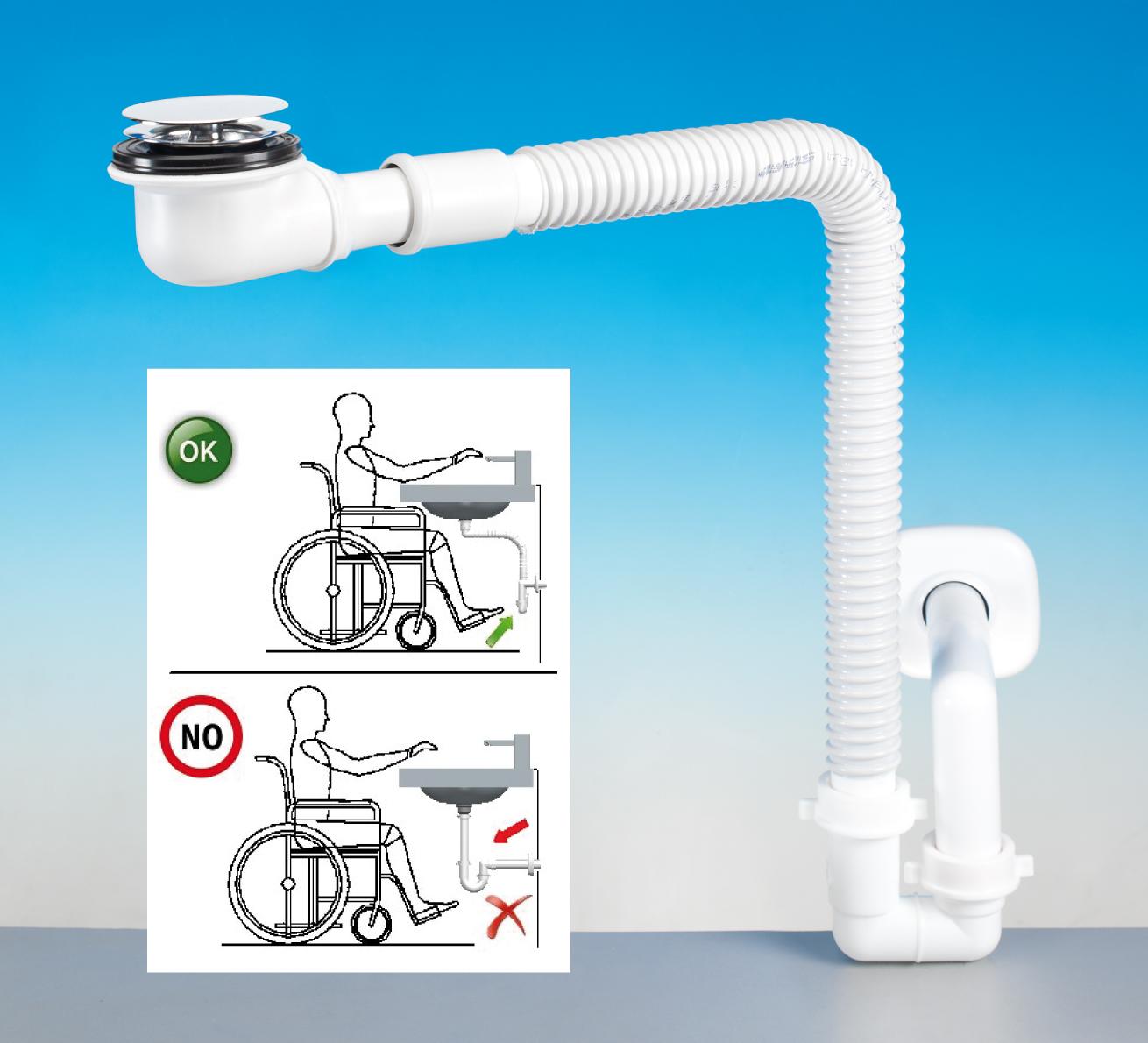 Spazio bagno disabili rci progettare rinnovabili riscaldamento climatizzazione idronica - Progettare bagno disabili ...