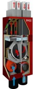 Il sistema di VMC HomeVent® fornito da Hoval
