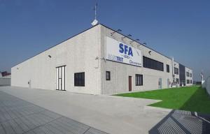 Restyling per SFA Italia: ulteriori 2000 metri quadrati coperti per il magazzino.