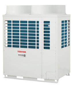 Fig. 1 - Nuovo sistema VRF SMMSe di Toshiba. Lo sforzo dei costruttori è quello di aumentare l'efficienza del sistema ai carichi parziali, che poi risultano quelli più utilizzati. In questo caso Toshiba, grazie all'impiego del nuovo compressore a doppia lama e al nuovo scambiatore dell'unità esterna, raggiunge valori di COP ai carichi parziali davvero ragguardevoli (fino a 6,44).