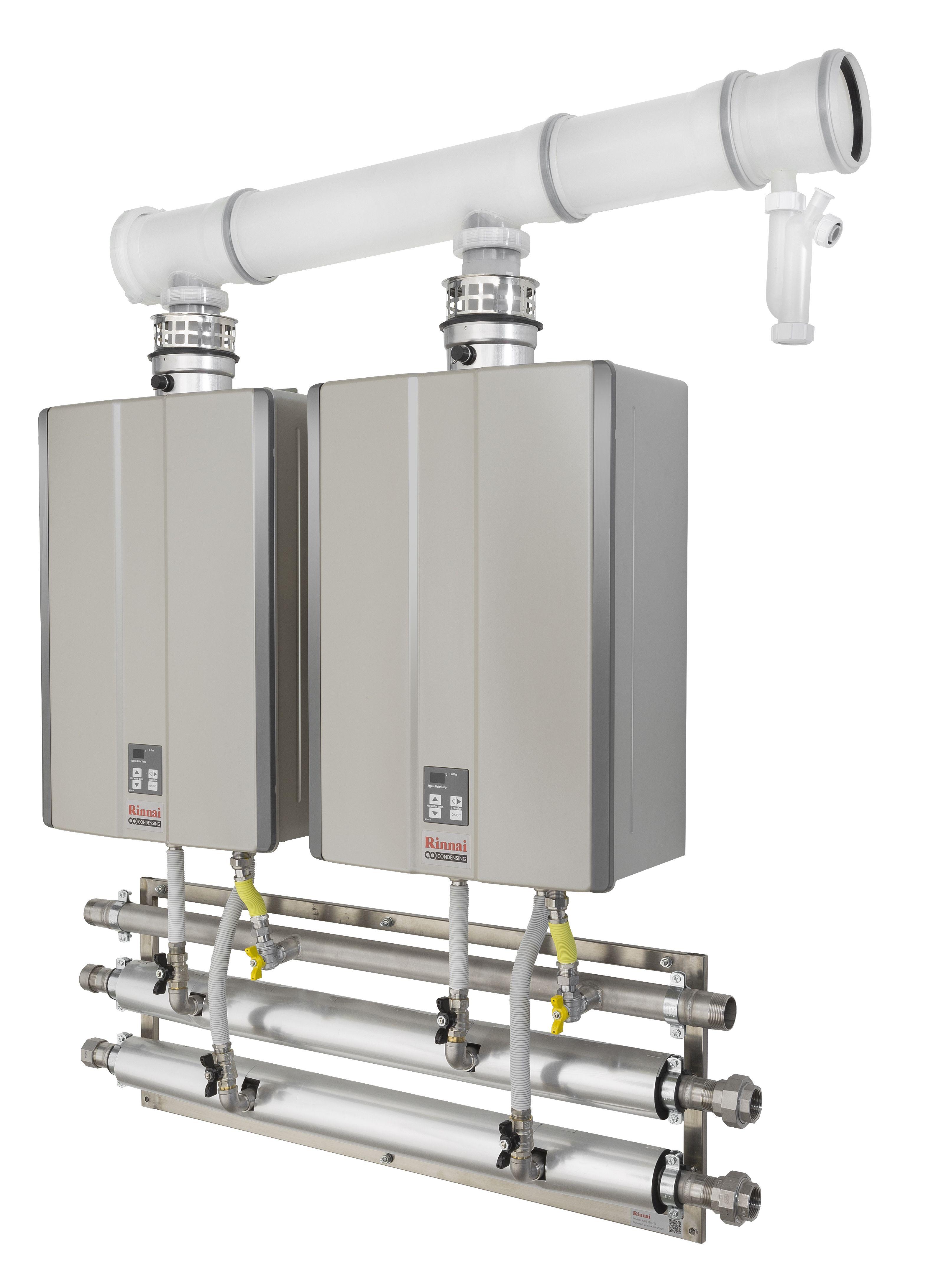 Sistema per l installazione multipla a muro di scaldacqua - Installazione scaldabagno a gas normativa ...