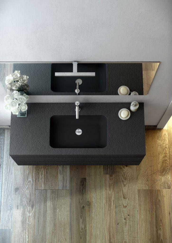 Mobili da bagno con lavabo integrato resistente agli urti Collezione ...