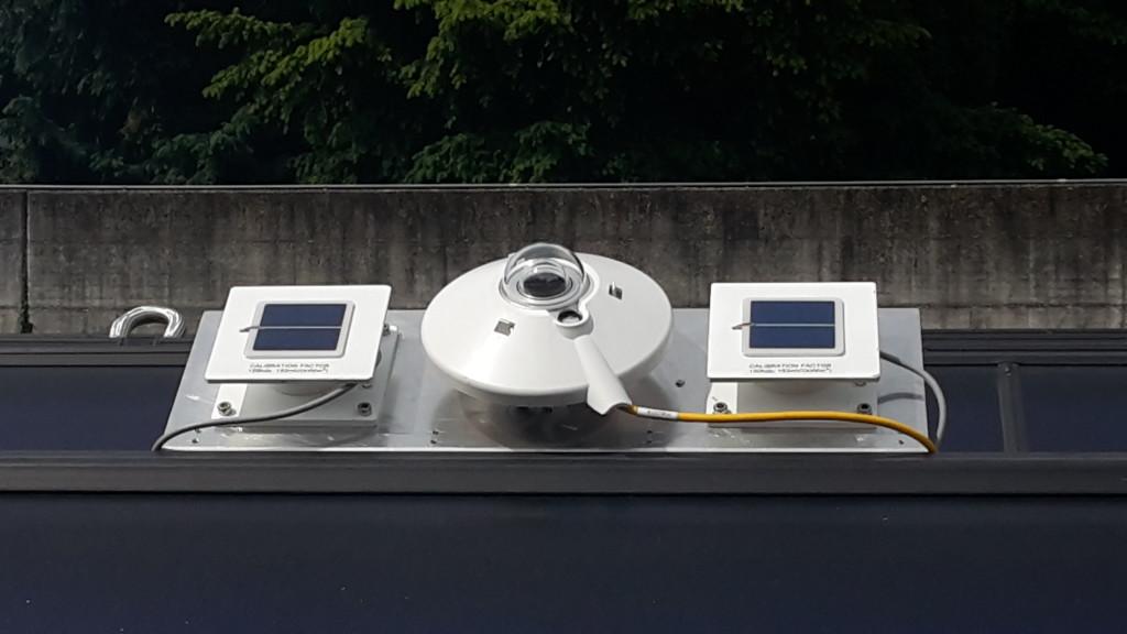 I piranometri posti direttamente in prossimità dei pannelli solari misurano la radiazione diretta e diffusa sulla superficie. La lettura in tempo reale adatta e modifica le logiche di funzionamento del campo solare.