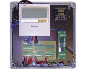 I controller più avanzati per impianti ad espansione diretta sono in grado di gestire anche unità aggiuntive per VMC a doppio flusso con recuperatore di calore (Panasonic).