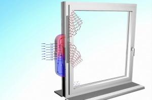 Piccoli aeratori da parete o da infisso, dotati di sensori e scambiatore di calore, rappresentano una buona soluzione per ventilare efficacemente locali di volume limitato (Internorm).
