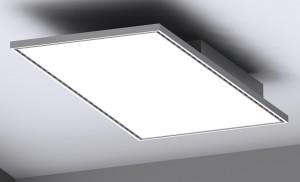 Ventilconvettore Indusail con diffusori lineari ad alta induzione posti sui 4 lati del pannello che può fungere da elemento fonoassorbente e da lampada (Kiefer).