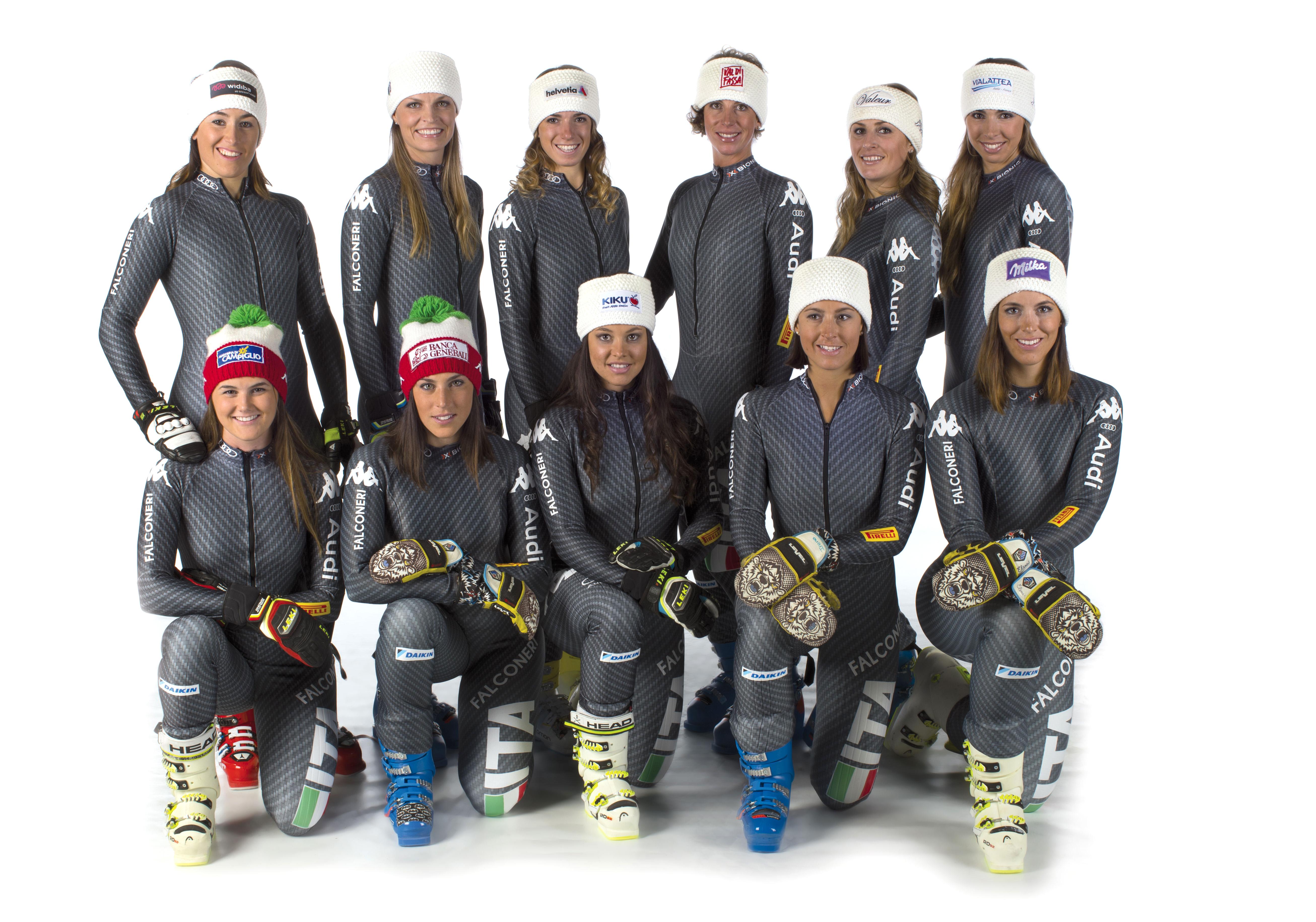 FISI IN TOUR- Photo shooting ufficiale FISI. Squadra femminile sci alpèino sl-gs. Bolzano (Ita) , 15-10-2016 foto (Alessandro Trovati- Pentaphoto/Mateimage)