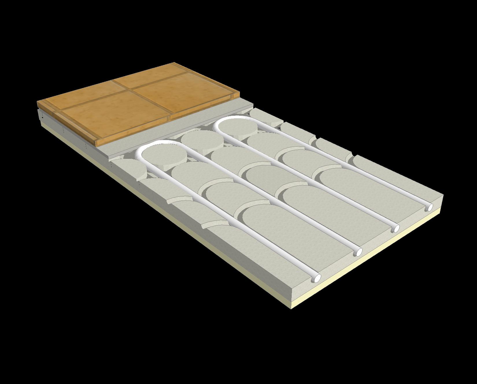Riscaldamento A Pavimento Ribassato Spessore ecofloor slim, sistema radiante a pavimento ribassato - rci